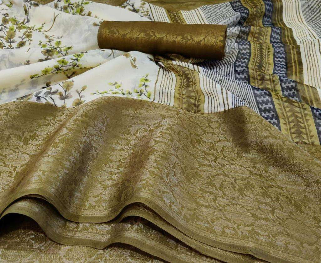 SR Meera SILK WITH PRINTED SAREE COLLECTION  04