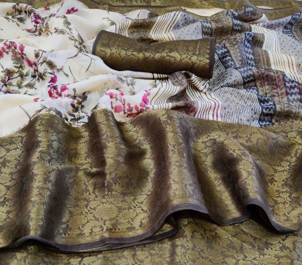 SR Meera SILK WITH PRINTED SAREE COLLECTION  05