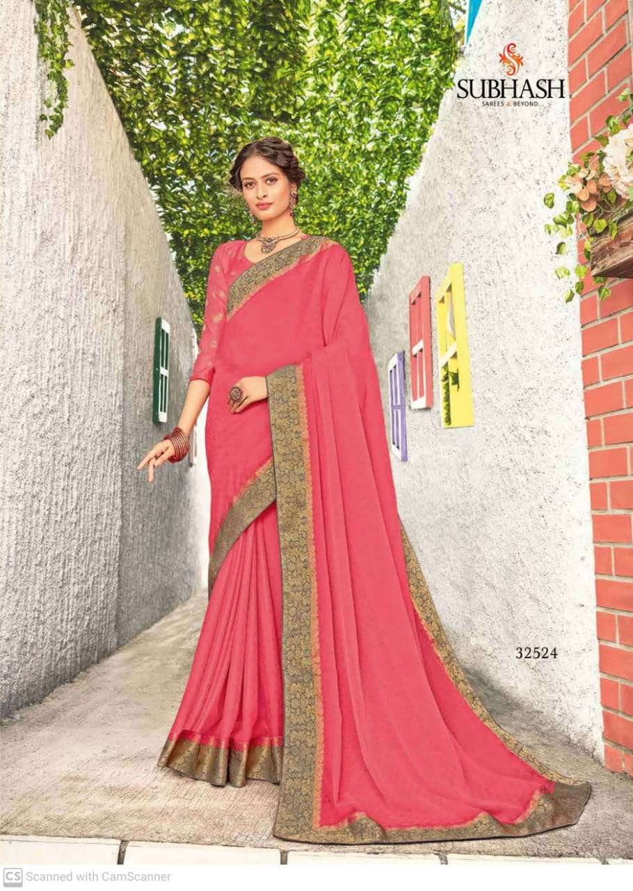 subhash sparsh vol 5 georgette with party wear saree collection  04