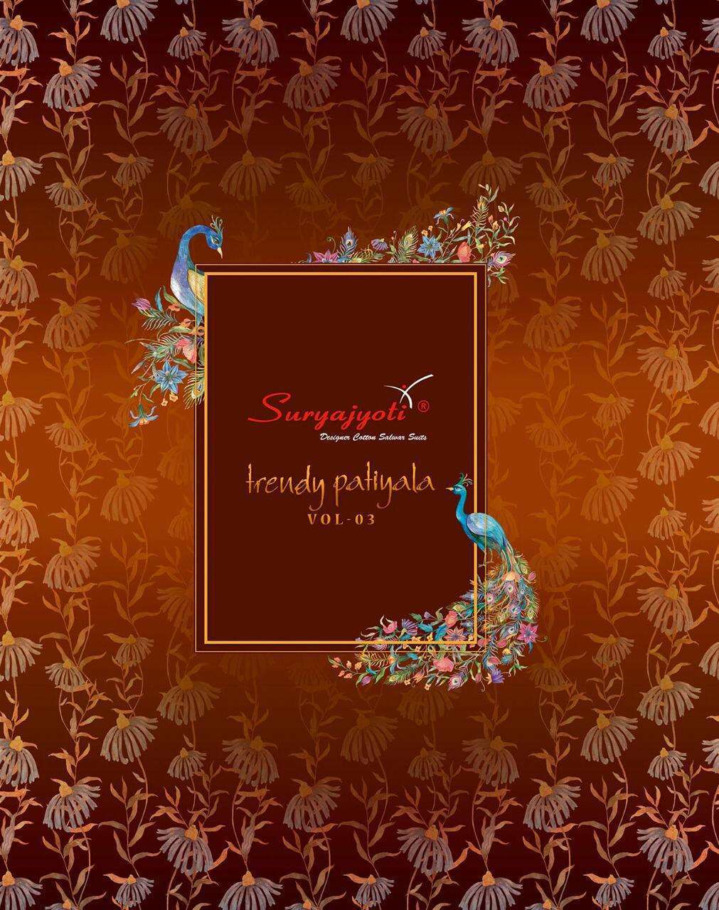 Suryajyoti Patiyala Vol 3 Cotton Printed Dress Material collection