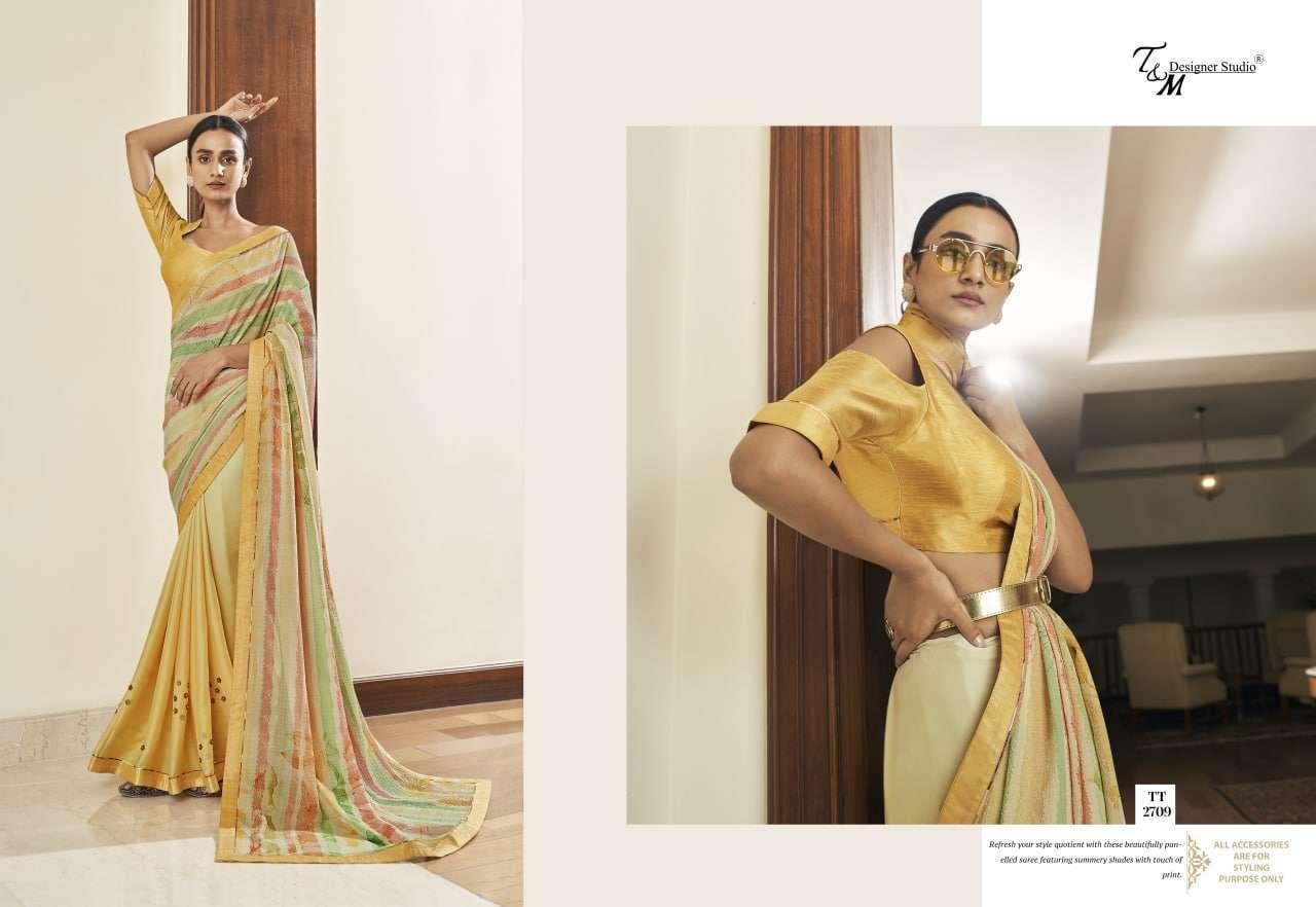 T&M Tatvam Vol 27 Fancy Designer Party Wear Sarees Collection 2709
