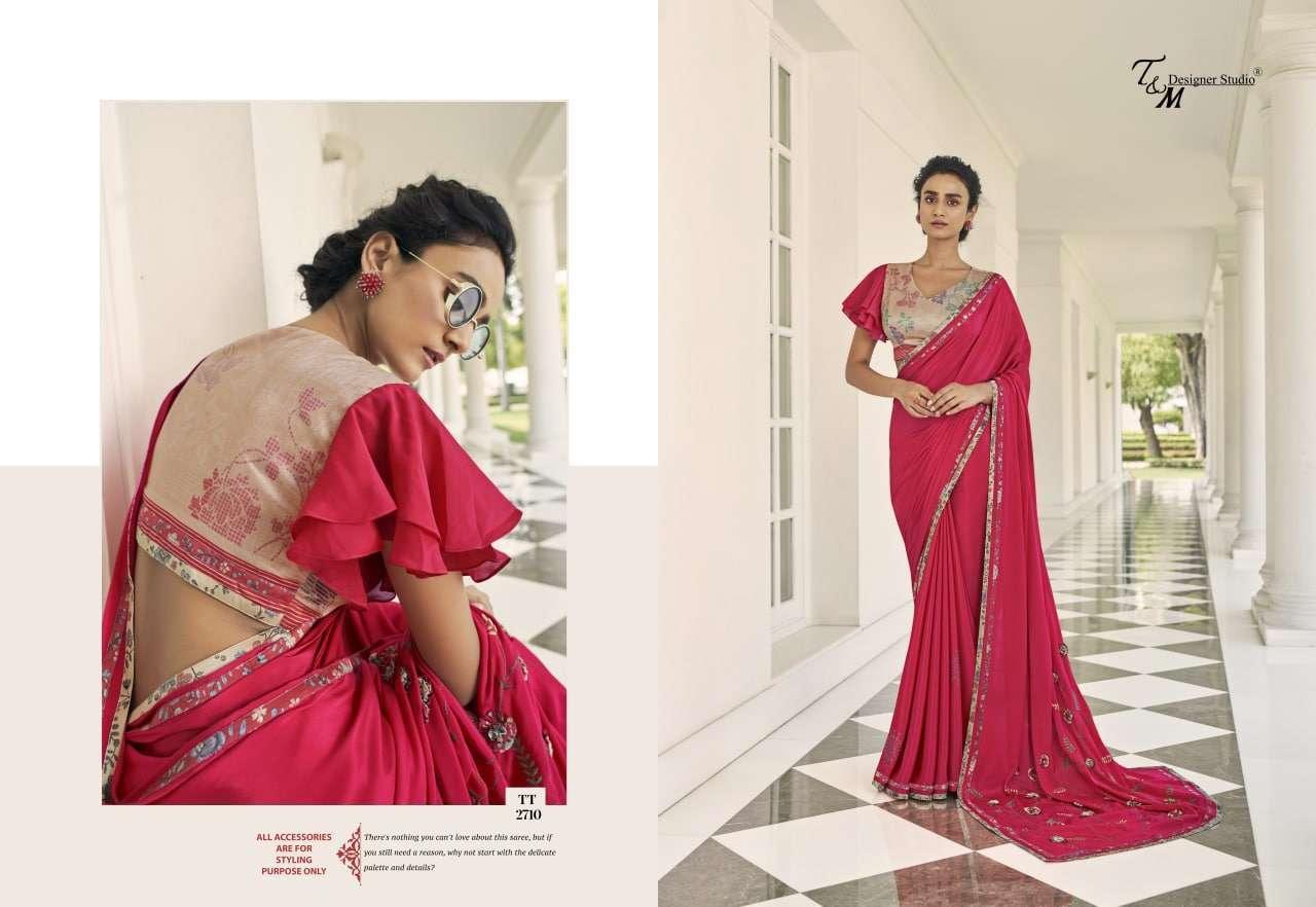 T&M Tatvam Vol 27 Fancy Designer Party Wear Sarees Collection 2710