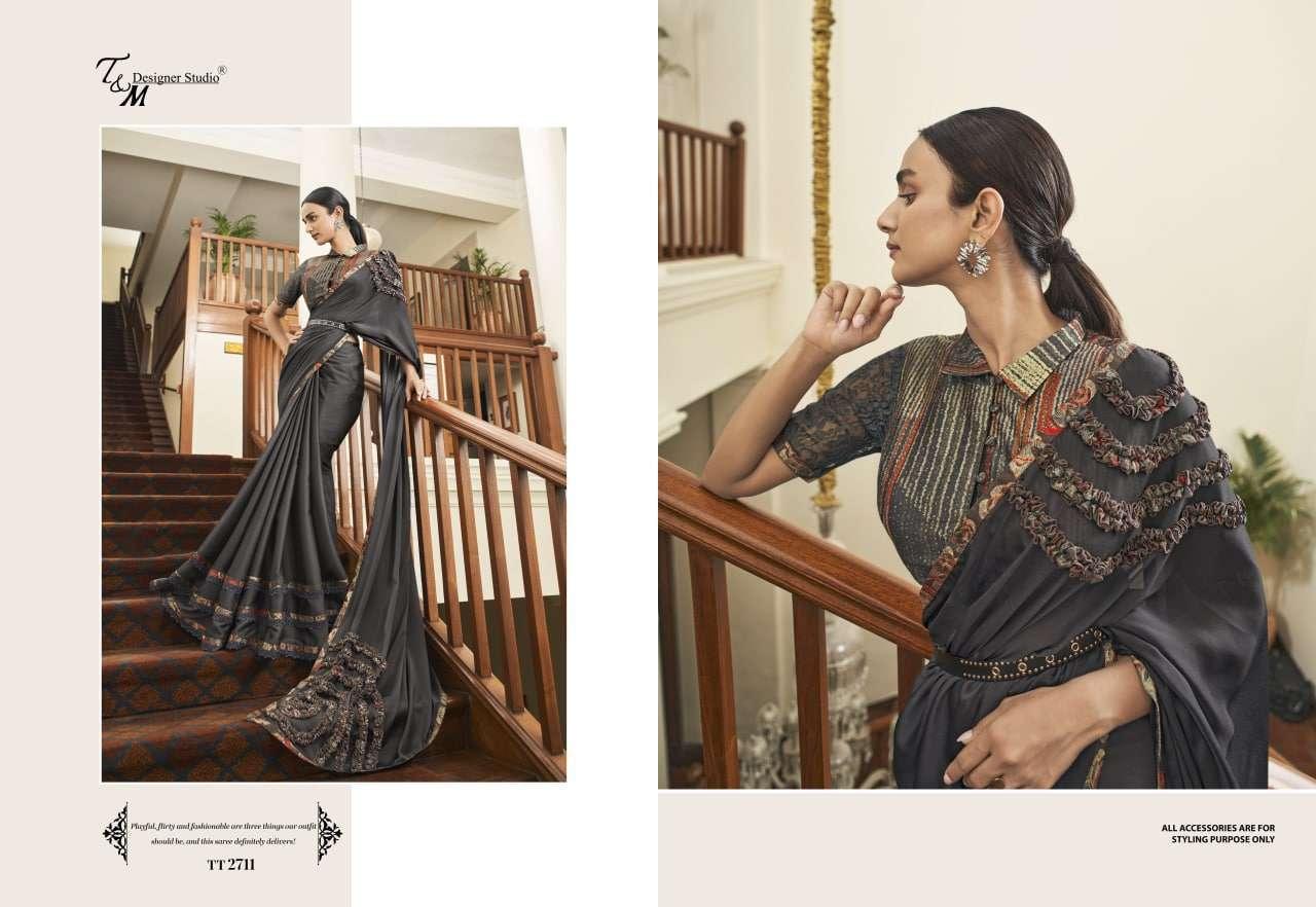 T&M Tatvam Vol 27 Fancy Designer Party Wear Sarees Collection 2711