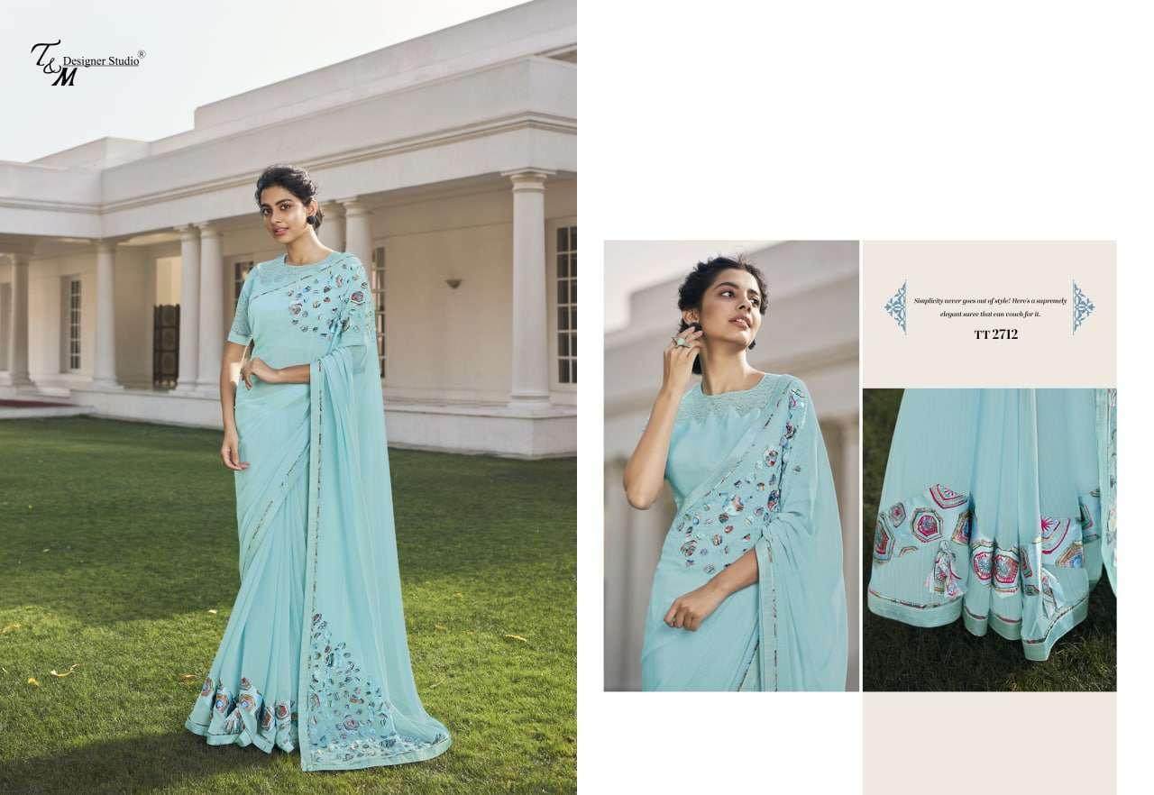 T&M Tatvam Vol 27 Fancy Designer Party Wear Sarees Collection 2712