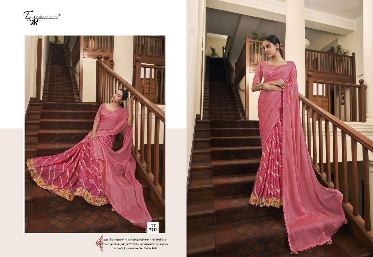 T&M Tatvam Vol 27 Fancy Designer Party Wear Sarees Collection 2713