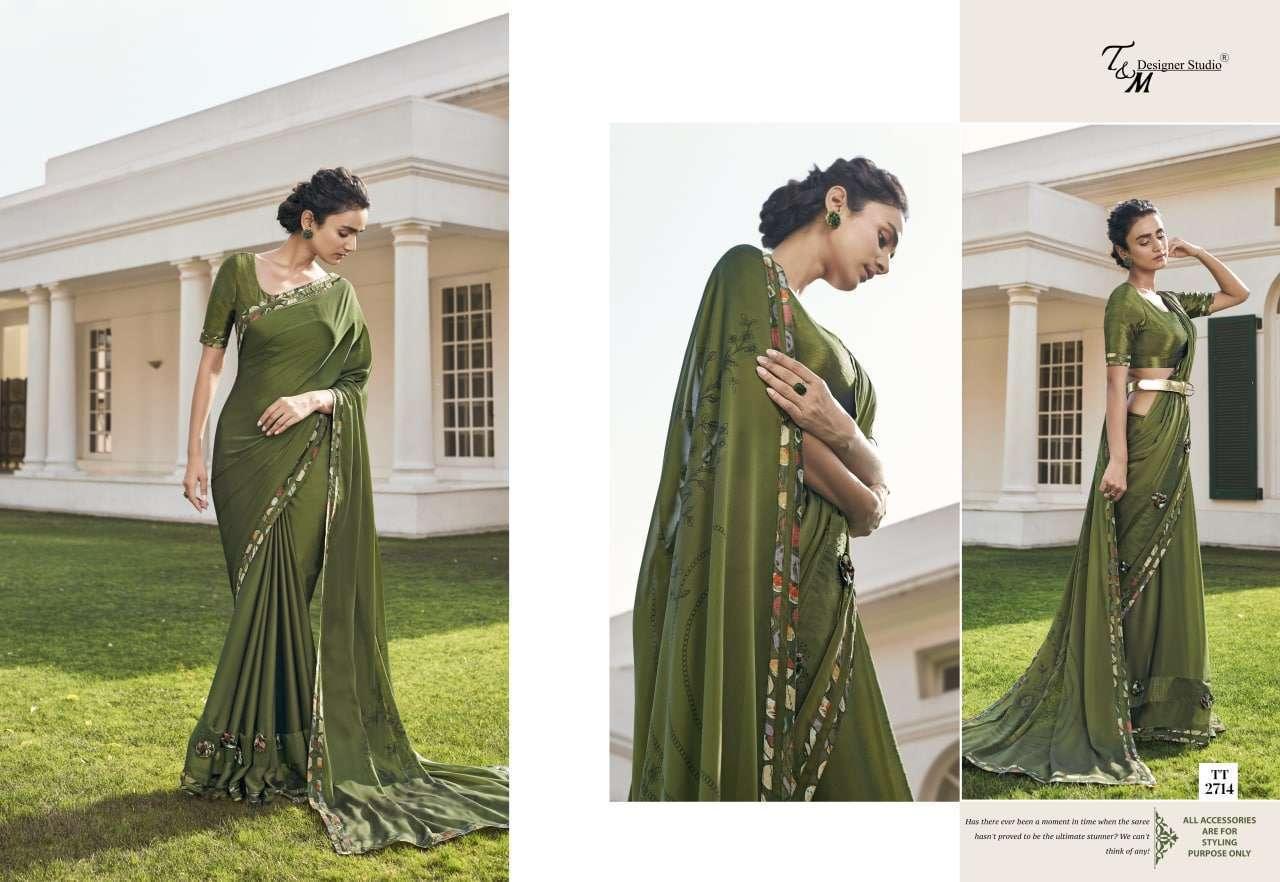 T&M Tatvam Vol 27 Fancy Designer Party Wear Sarees Collection 2714