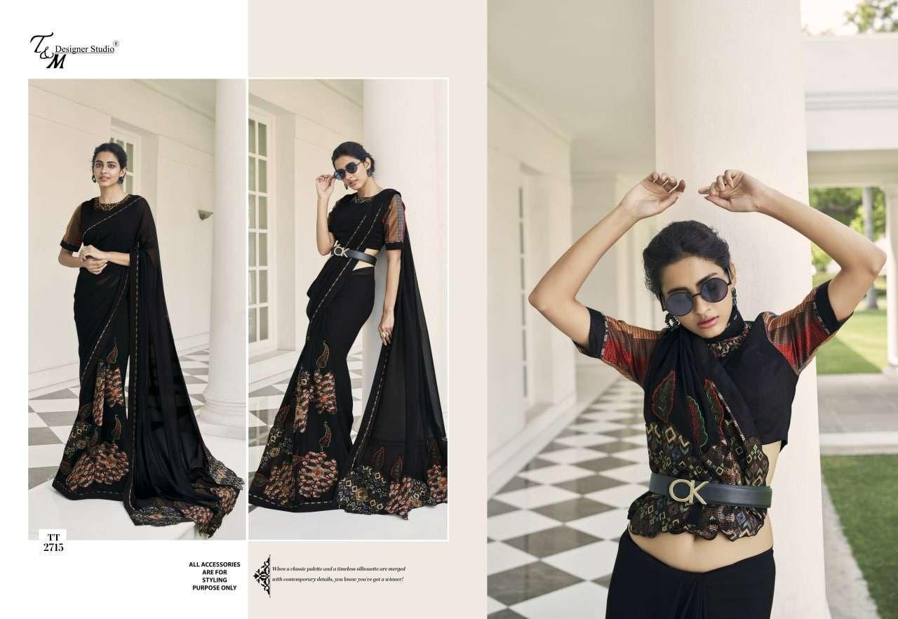 T&M Tatvam Vol 27 Fancy Designer Party Wear Sarees Collection 2715