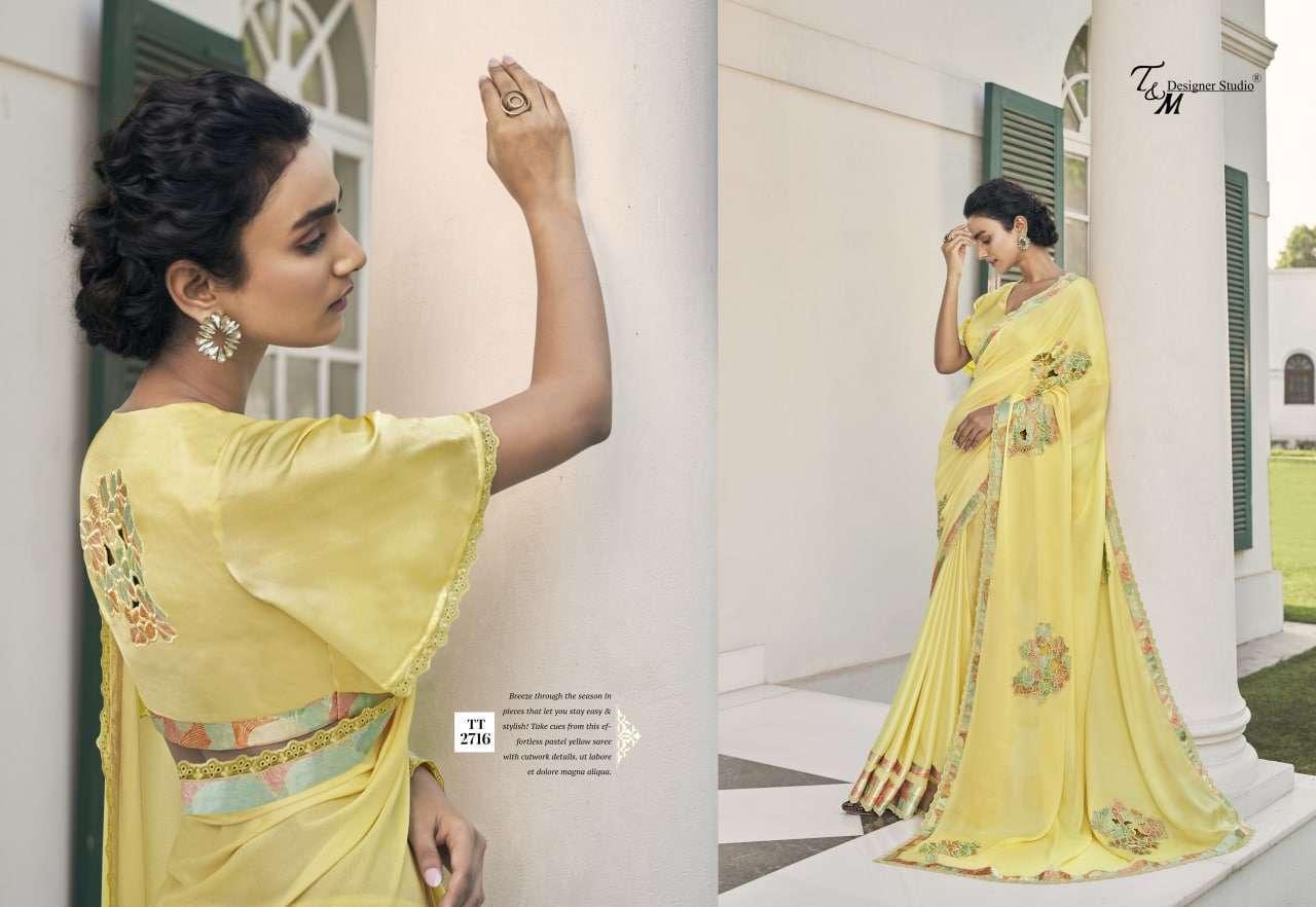 T&M Tatvam Vol 27 Fancy Designer Party Wear Sarees Collection 2716