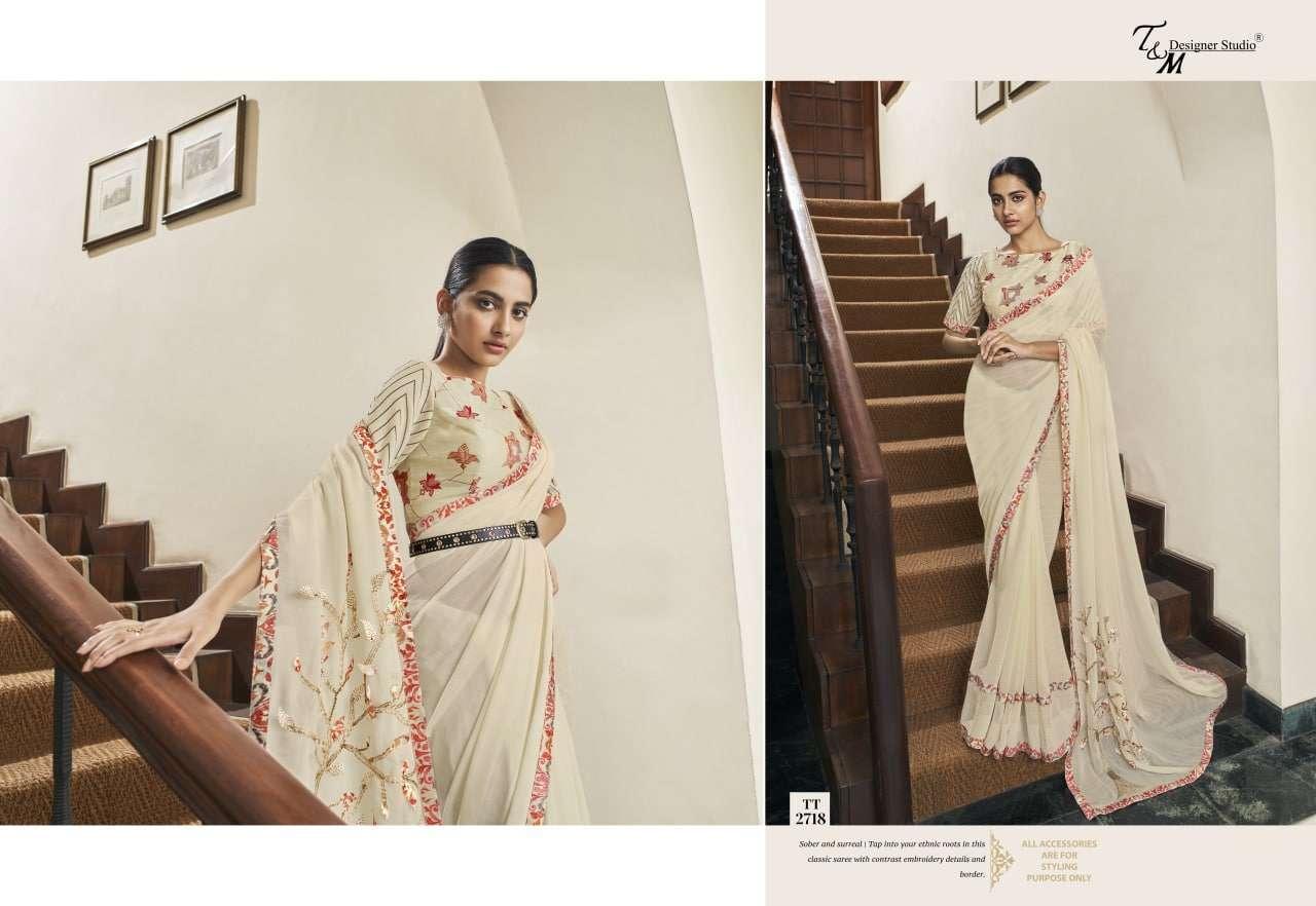 T&M Tatvam Vol 27 Fancy Designer Party Wear Sarees Collection 2718