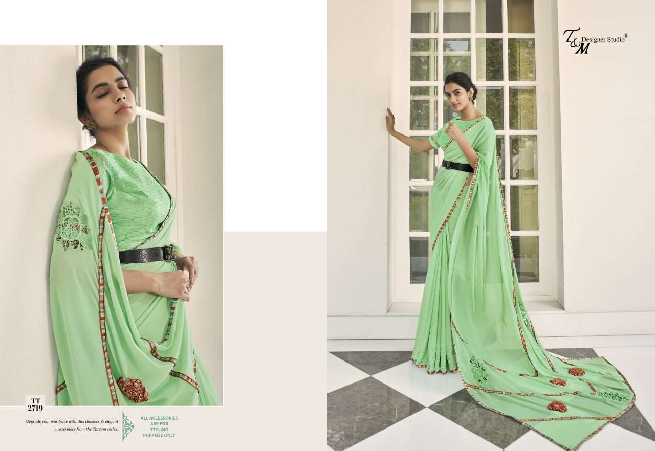 T&M Tatvam Vol 27 Fancy Designer Party Wear Sarees Collection 2719