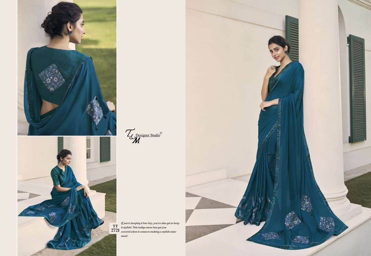 T&M Tatvam Vol 27 Fancy Designer Party Wear Sarees Collection 2721