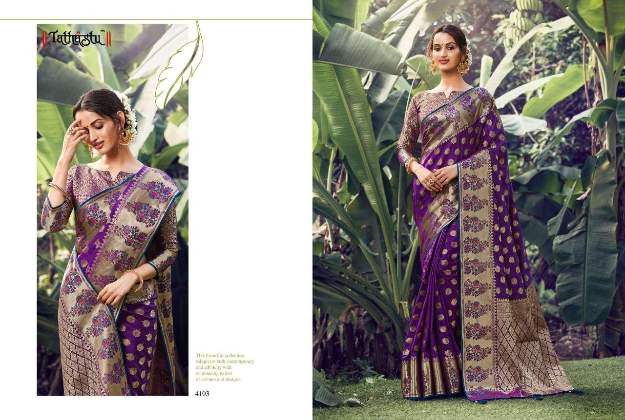 Tathastu 4100 Series Heavy Designer Silk parpal Sarees Collection  04