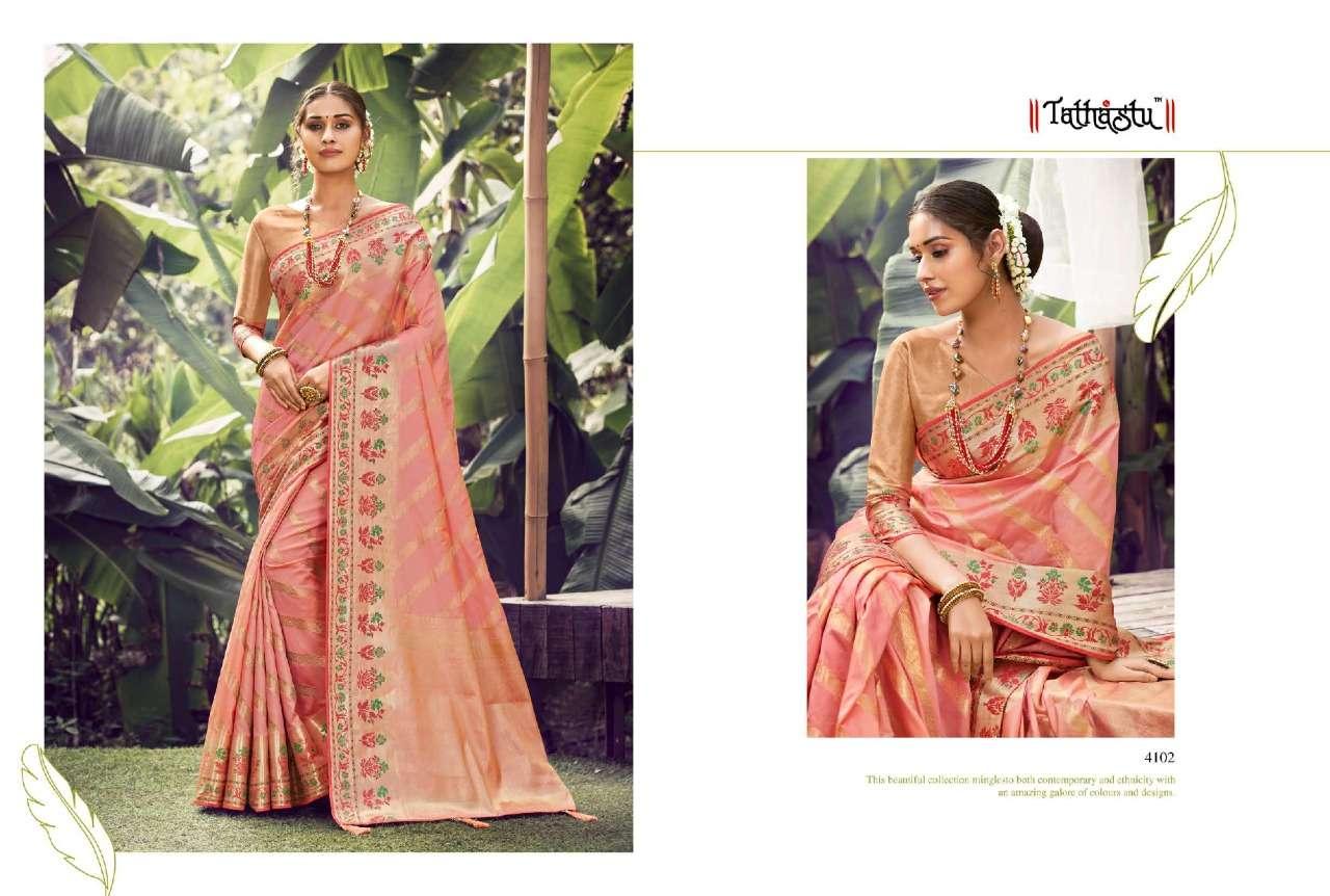 Tathastu 4100 Series Heavy Designer Silk Sarees Collection  08