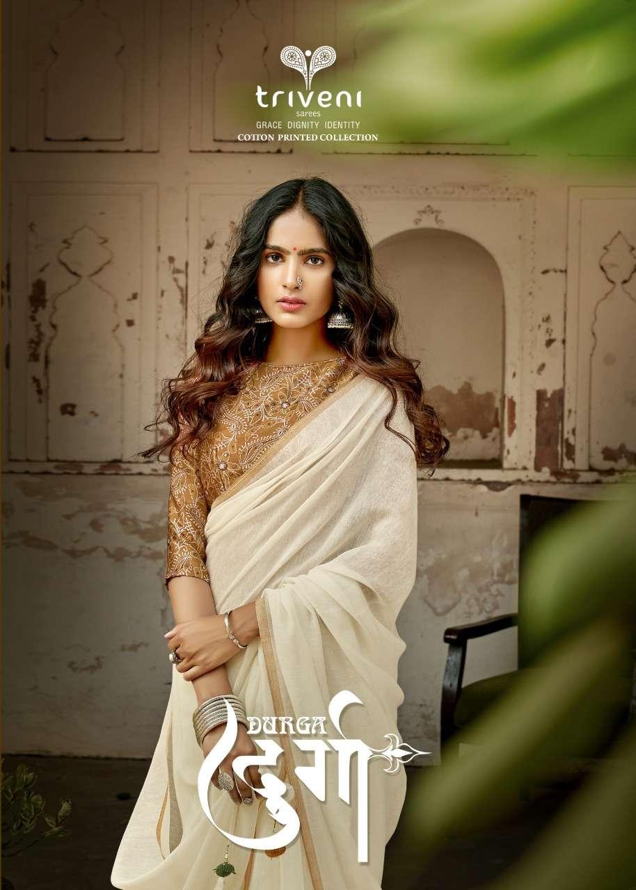 Triveni Durga Cotton Fancy Sarees Collection