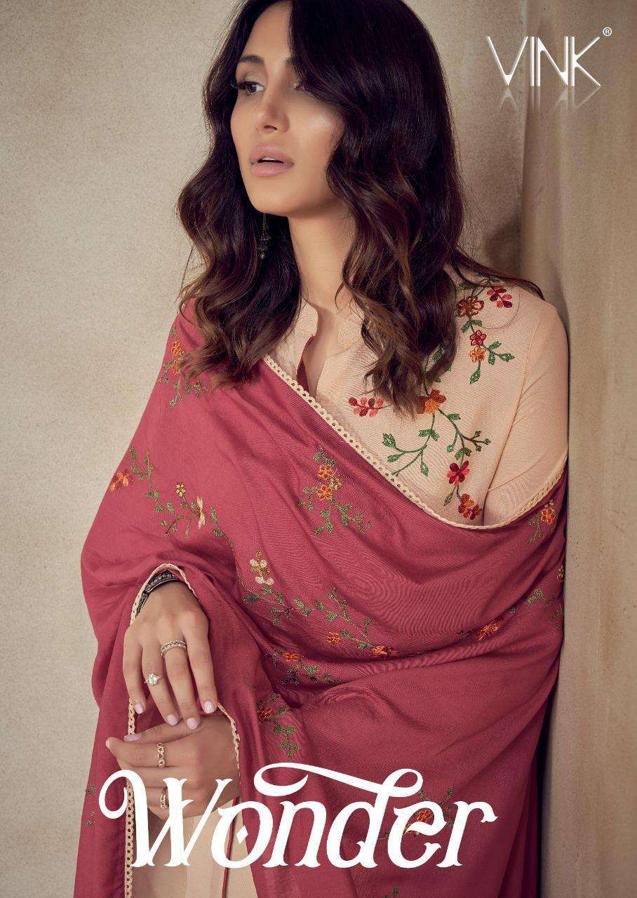 Vink Wonder Rayon With embroidery Work Kurti with Bottom Dupatta collection