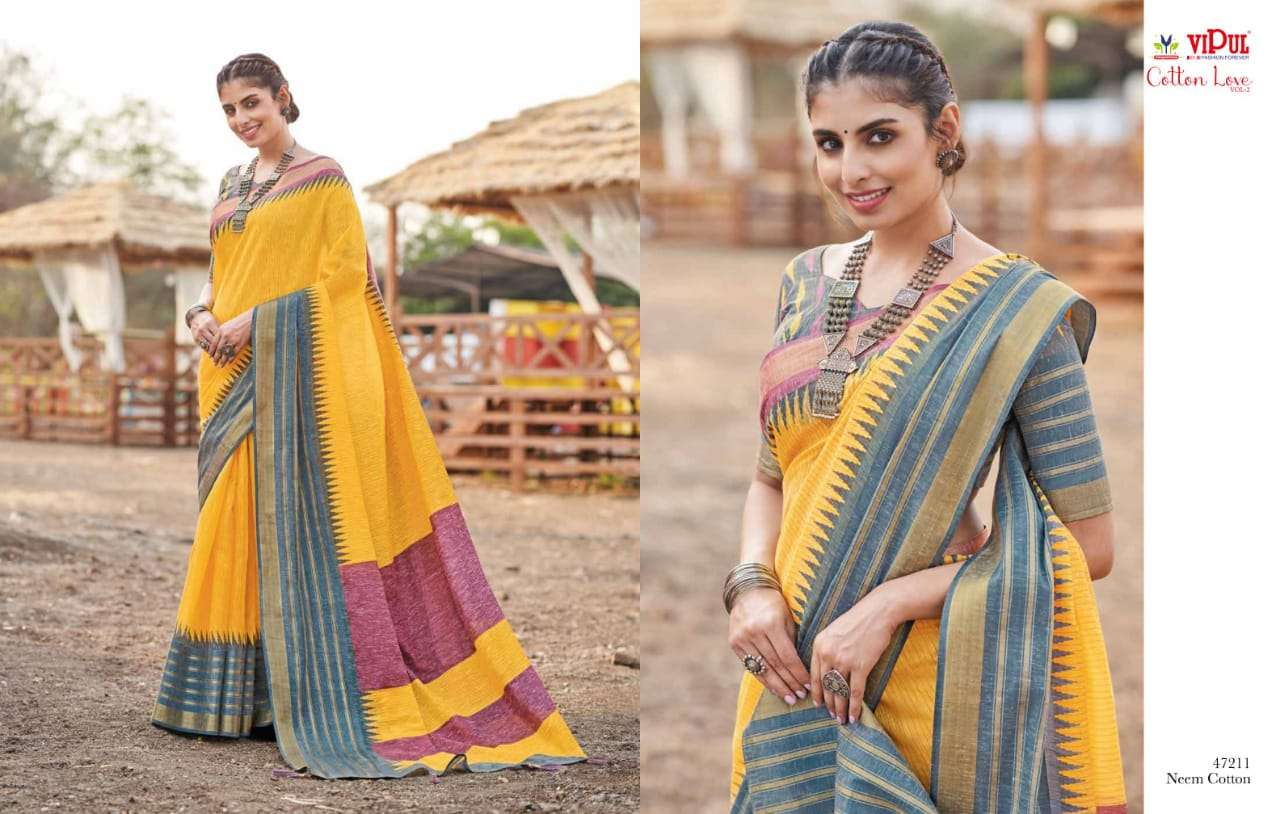 VIPUL COTTON WITH  PARTY WEAR SAREE COLLECTION 08
