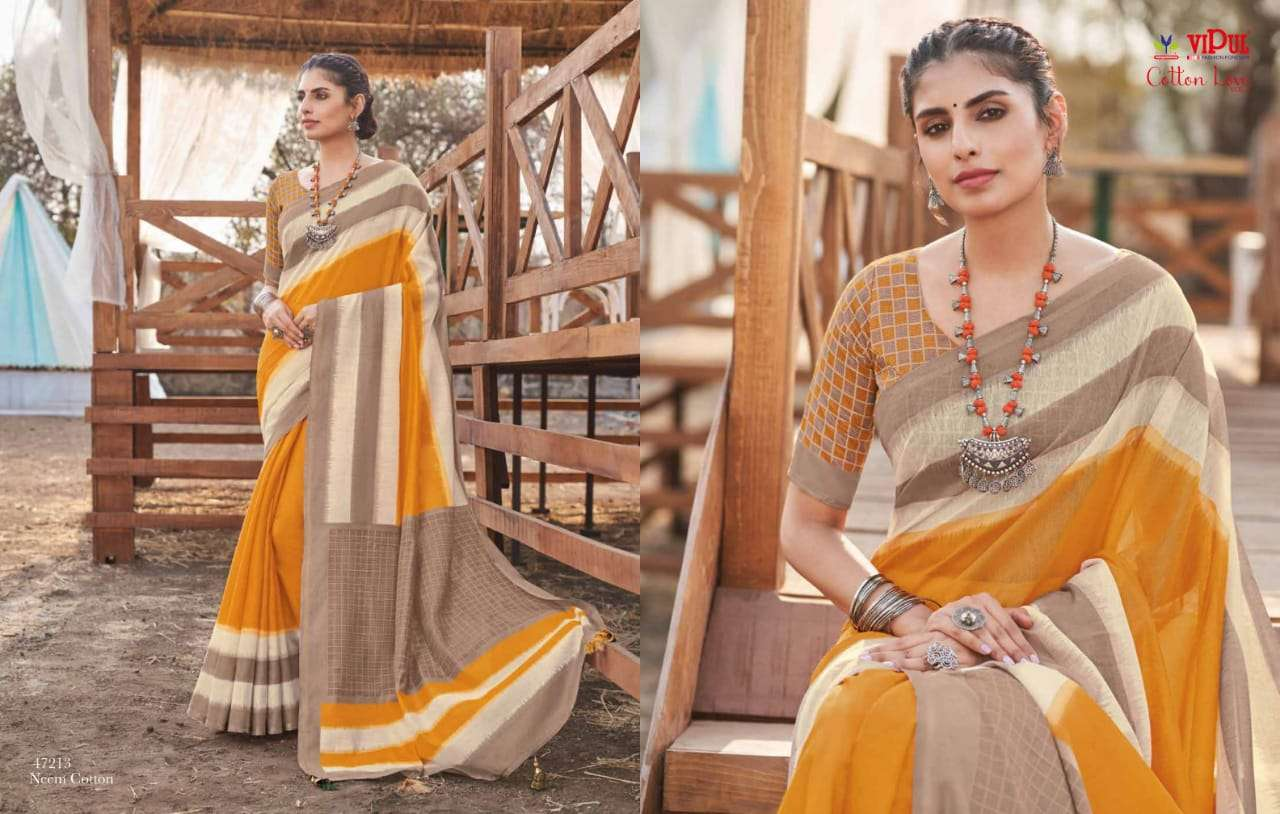 VIPUL COTTON WITH  PARTY WEAR SAREE COLLECTION 09