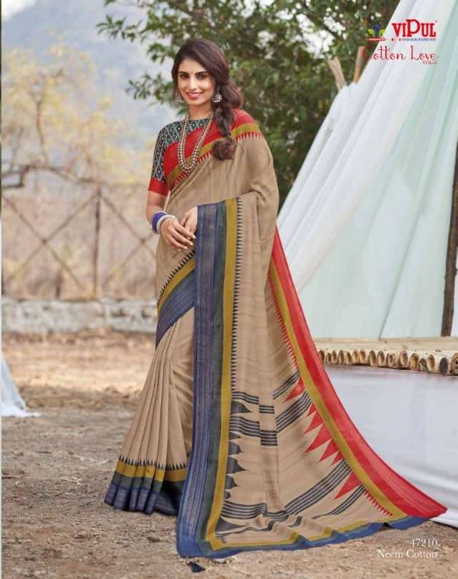 VIPUL COTTON WITH  PARTY WEAR SAREE COLLECTION AT WHOLESALE RATE