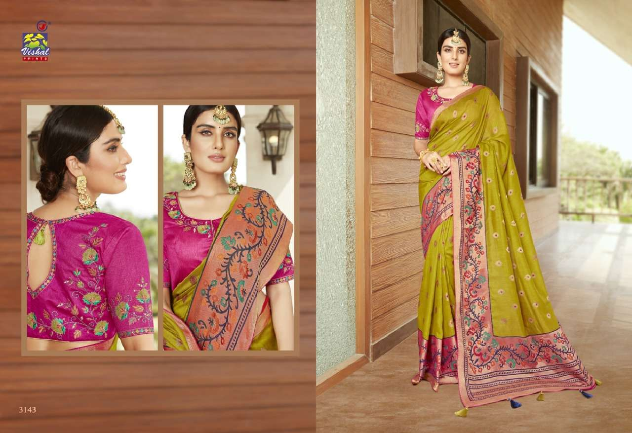 Vishal Prints Sangini Fancy With Designer Work Sarees Collection 04