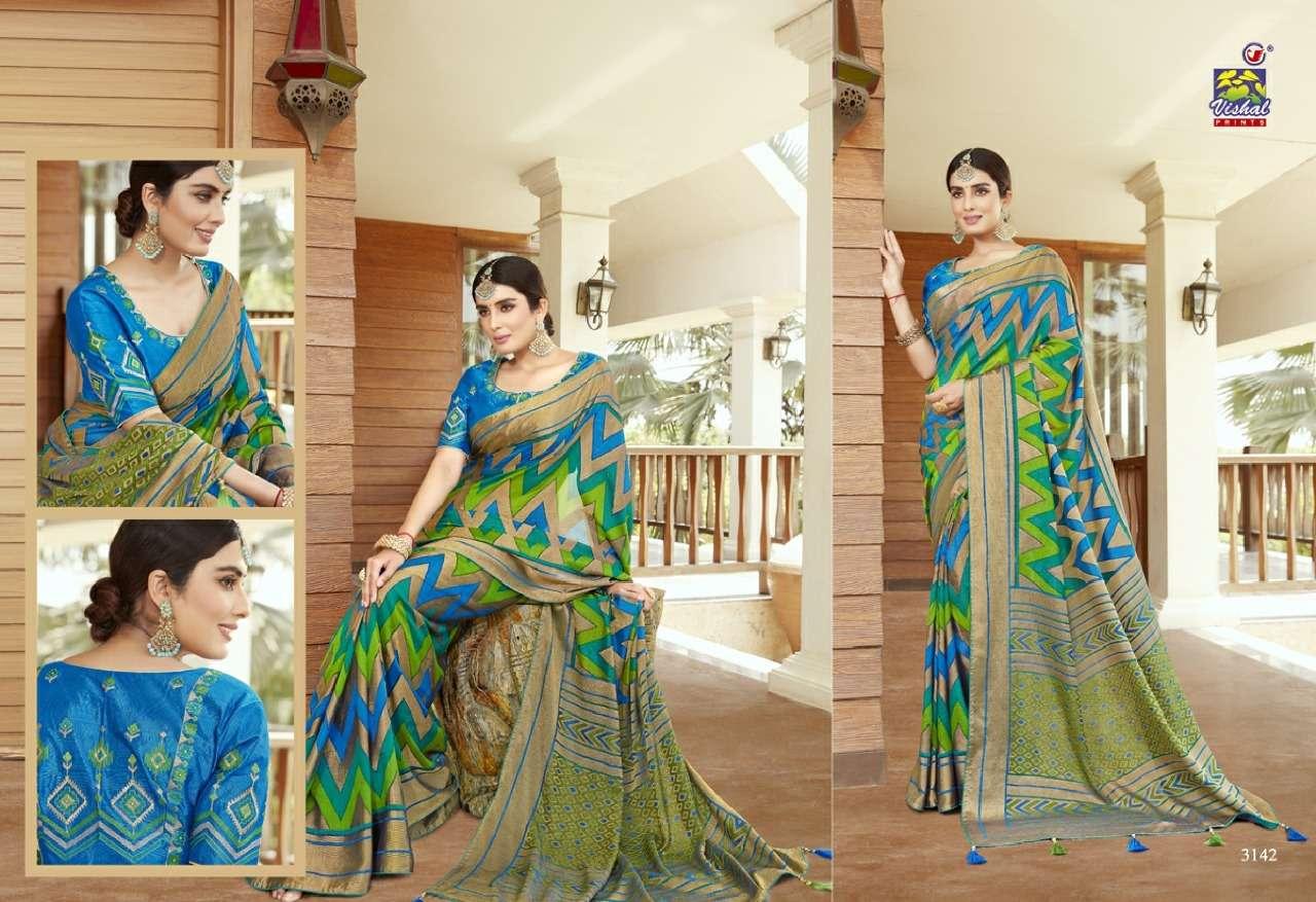 Vishal Prints Sangini Fancy With Designer Work Sarees Collection 07