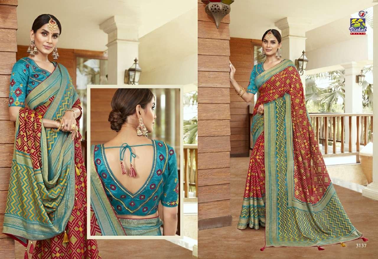 Vishal Prints Sangini Fancy With Designer Work Sarees Collection 08