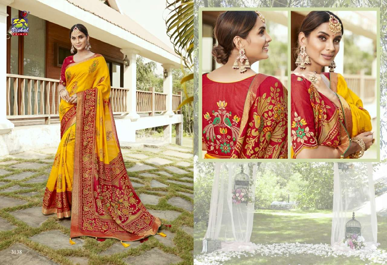 Vishal Prints Sangini Fancy With Designer Work Sarees Collection 09