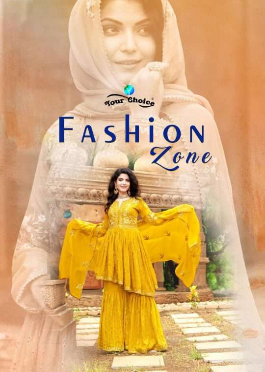YOUR CHOICE FASHION ZONE PURE GEORGETTE WITH EMBROIDERY WORK DRESS MATERIAL COLLECTION