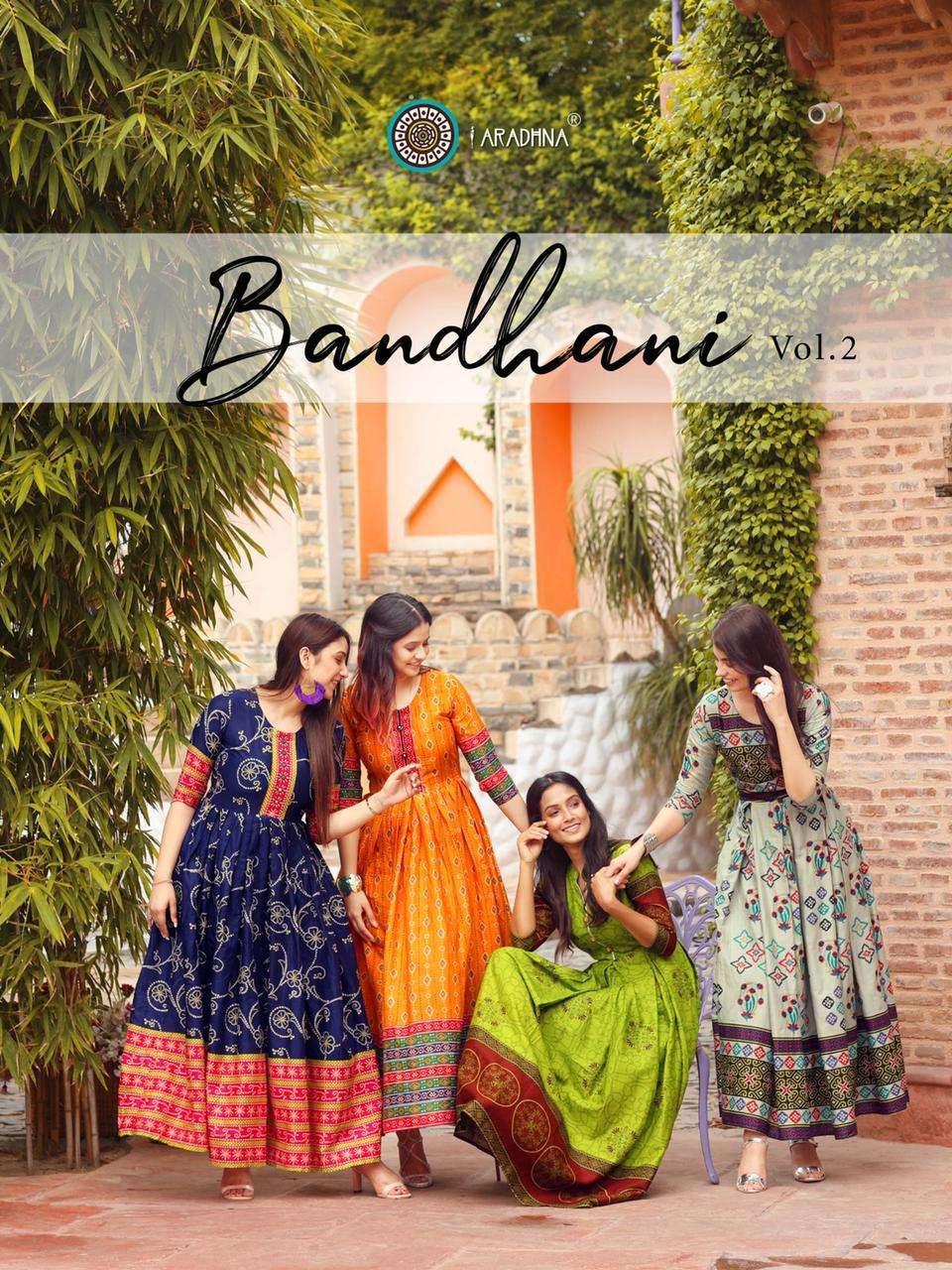 Aradhna Fashion Bandhani Vol 2 Cotton Badhani Print With Work Kurtis collection