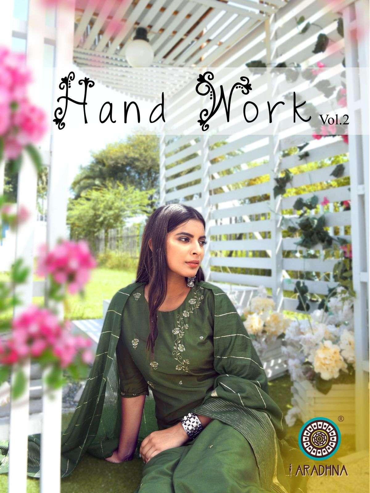 Aradhna Fashion Hand Work Vol 2 Cotton silk With Hand Work readymade salwar Suits collection