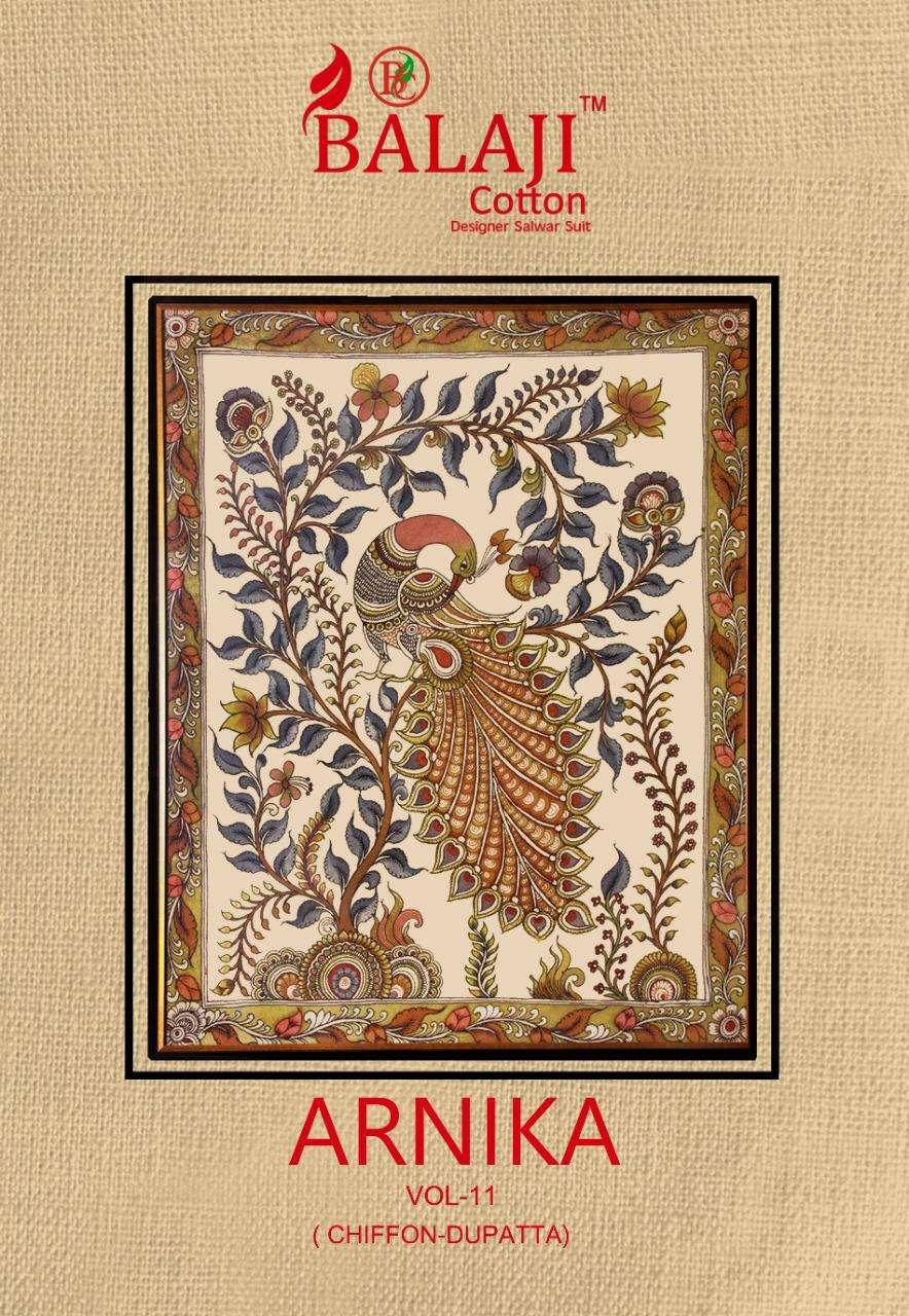 Balaji Cotton Arnika Vol 11 Cotton Fancy Printed Dress Material collection