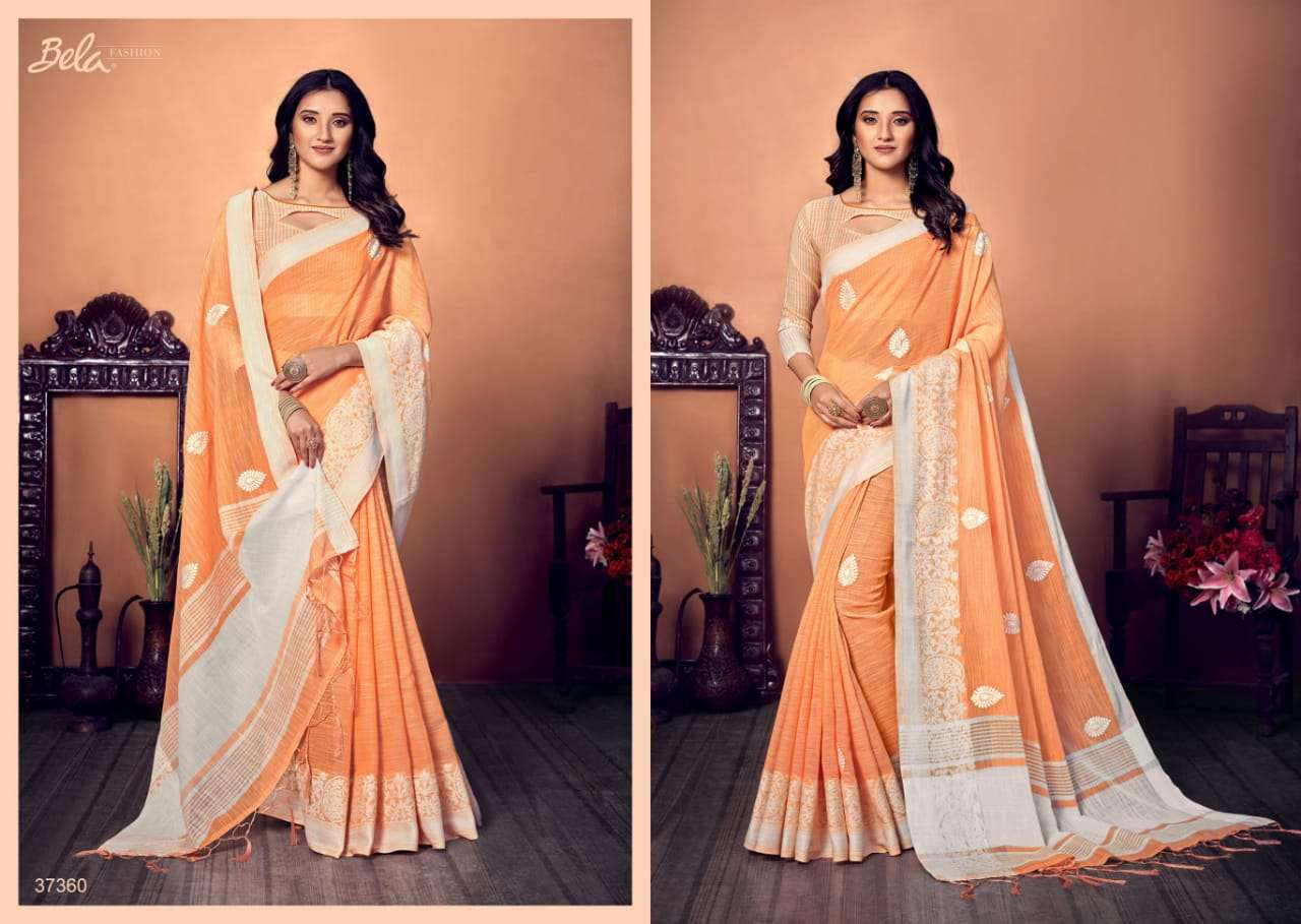 BELA CORAL COTTON WITH EMBROIDERY WORK SAREE COLLECTION 04