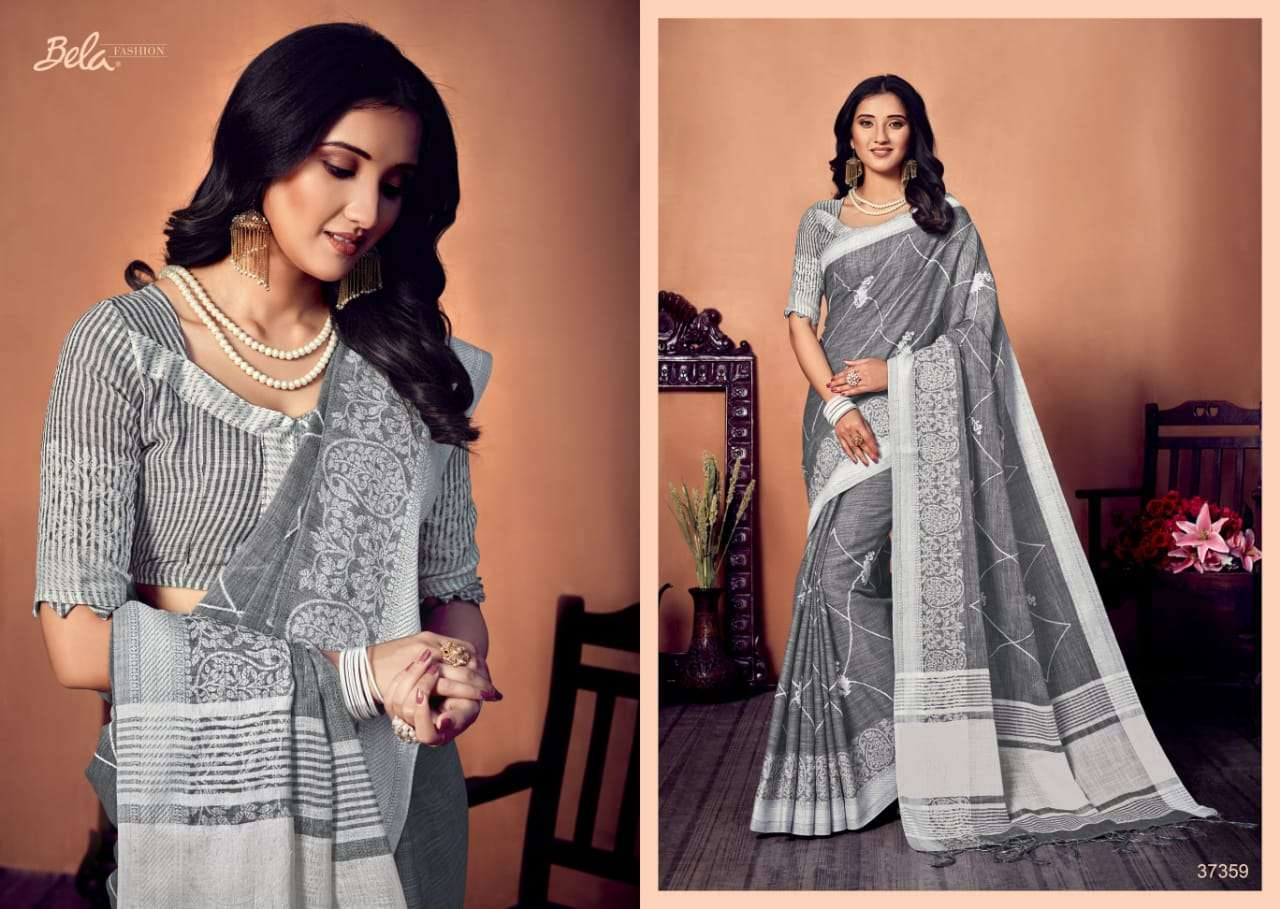 BELA CORAL COTTON WITH EMBROIDERY WORK SAREE COLLECTION 05