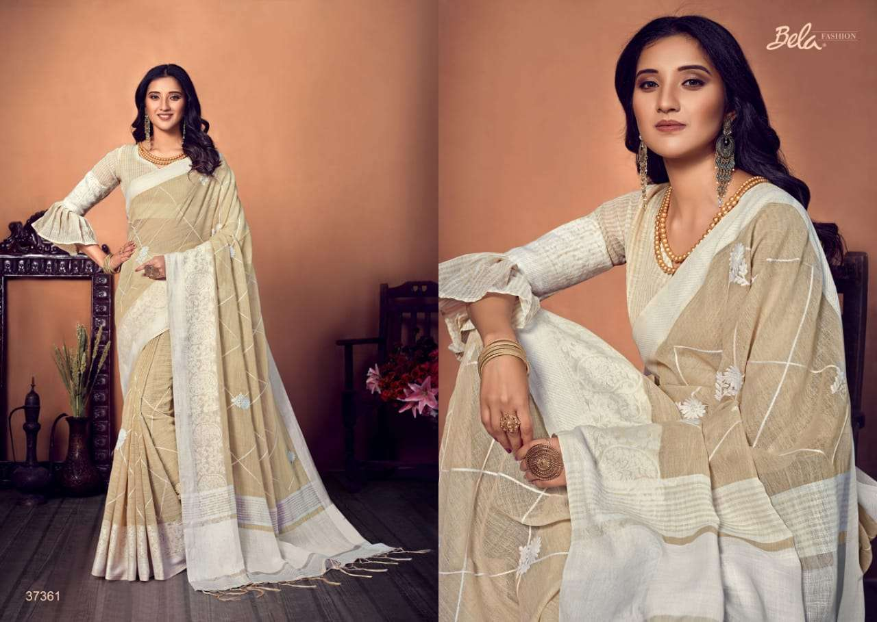 BELA CORAL COTTON WITH EMBROIDERY WORK SAREE COLLECTION 07