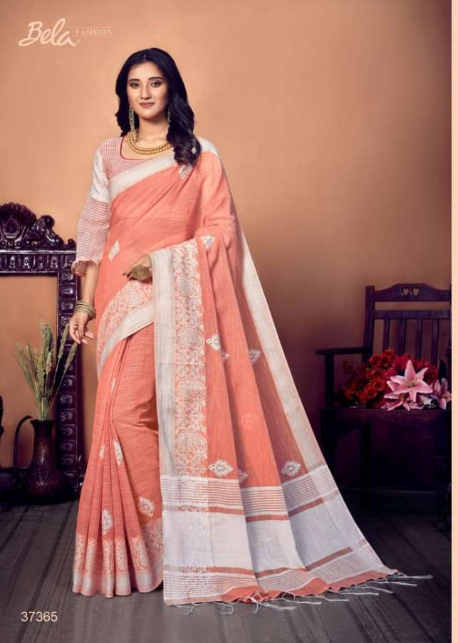BELA CORAL COTTON WITH EMBROIDERY WORK SAREE COLLECTION 0789
