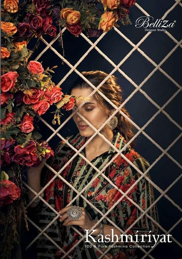Belliza Designer Studio Kashmiriyat Pashmina Digital print With Work Dress Material collection