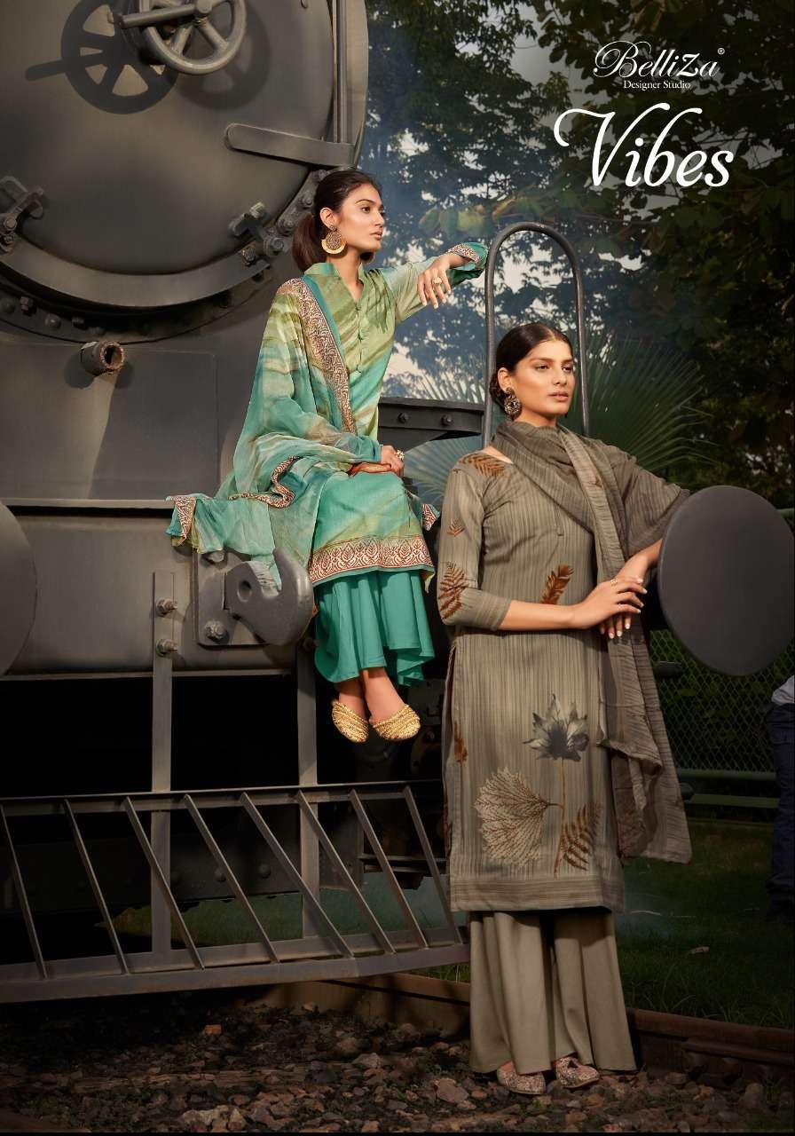 Belliza Designer Studio Vibes Rayon Digital print Dress Material collection