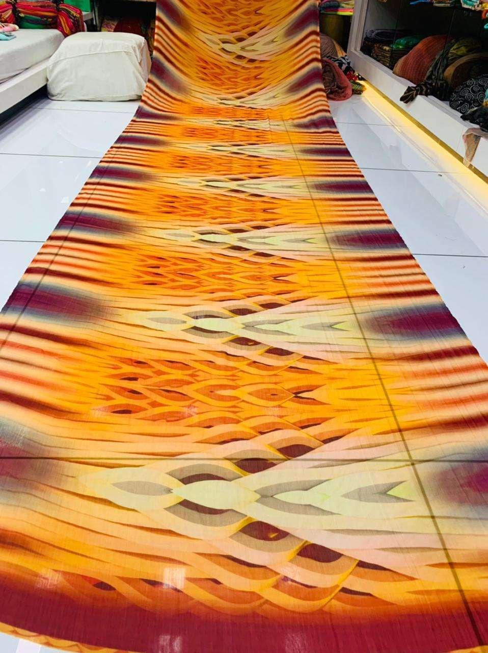 Chiffon Digital Printed Regular Wear Sarees Collection 017