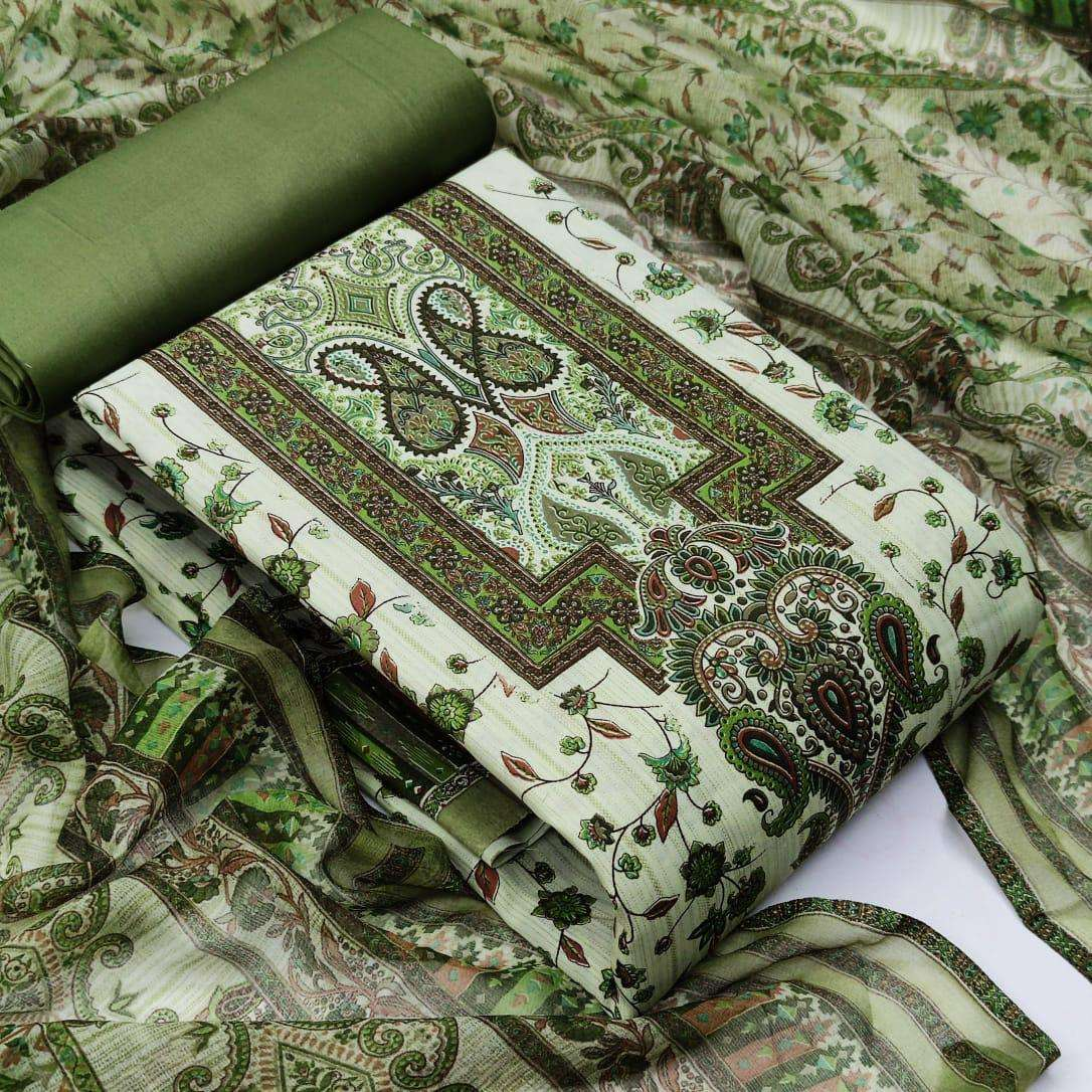 COTTON WITH FLORAL PRINTED DRESS MATERIAL COLLECTION