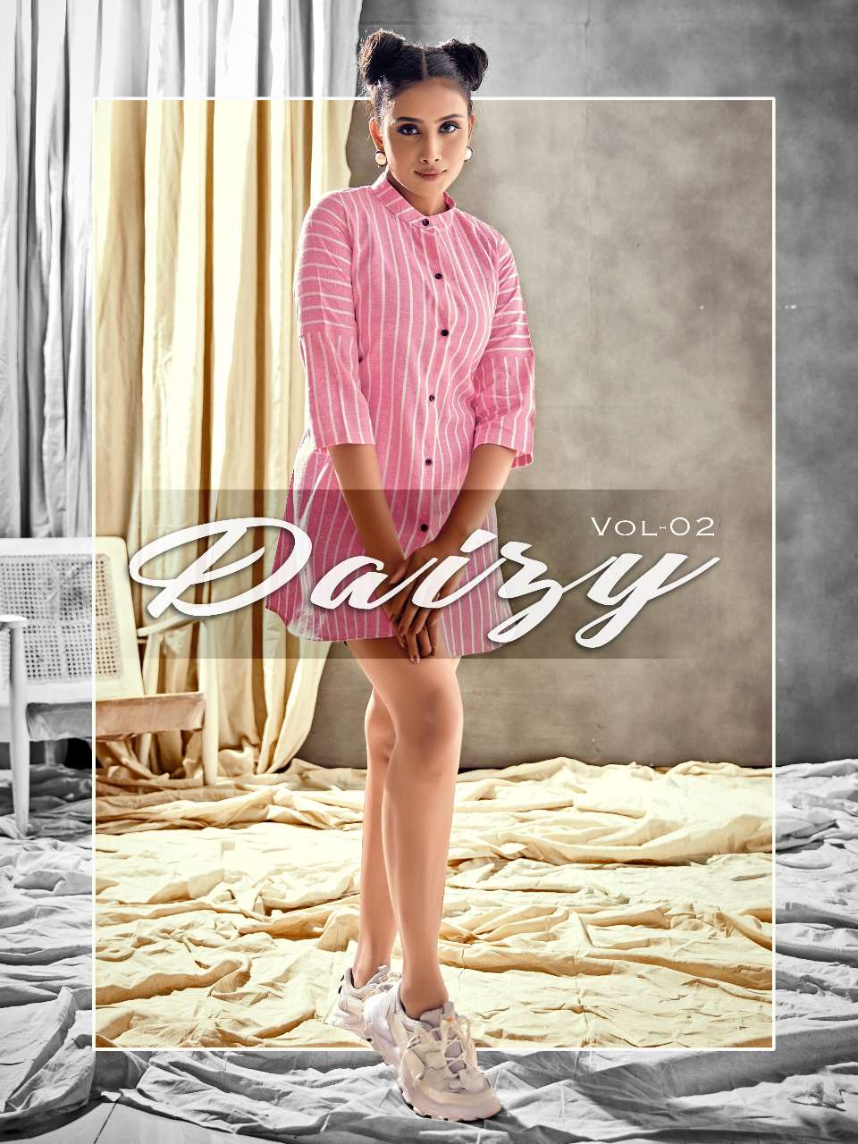 Daisy Vol 2 Pure Khadi With Lining Weaving Western Kurtis Collection