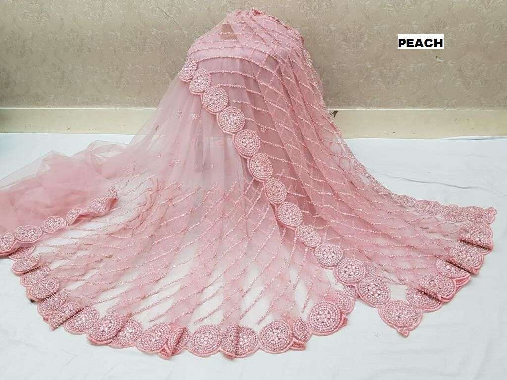 DF 4054 Mono Nylon net With Multy Embroidery Work Boutique Sarees collection