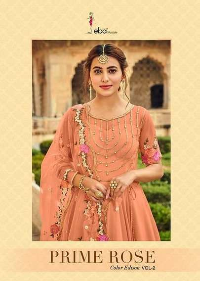 Eba Lifestyle Prime Rose Colour Edition Vol 2 Pure georgette With Embroidery Work Salwar Kameez Collection