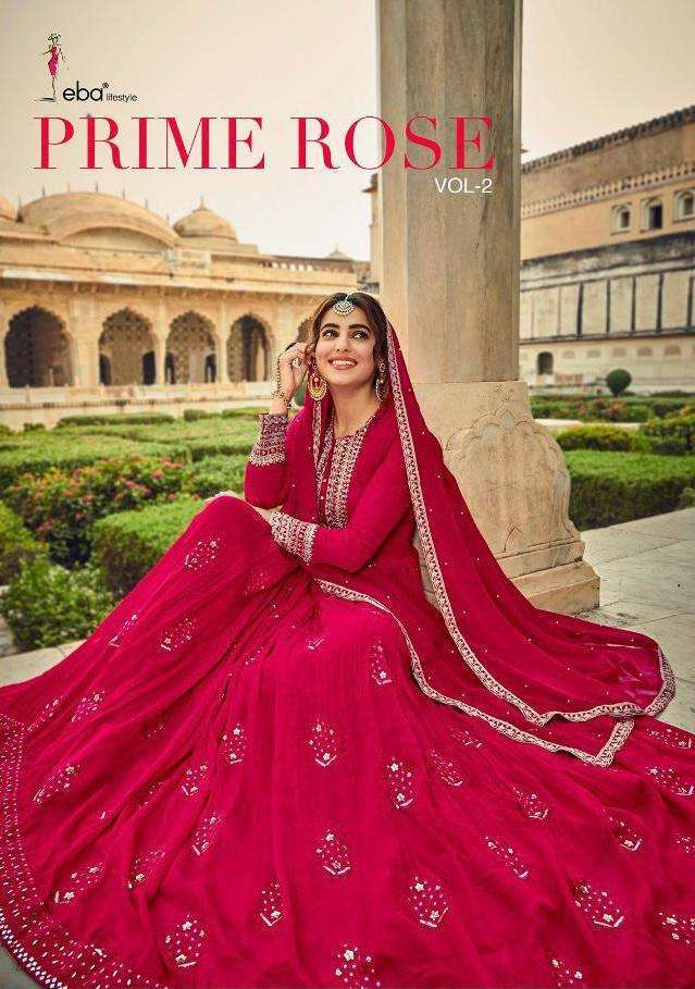 Eba Lifestyle Prime Rose Vol 2 pure Georgette With Embroidery Work Salwar Kameez Collection