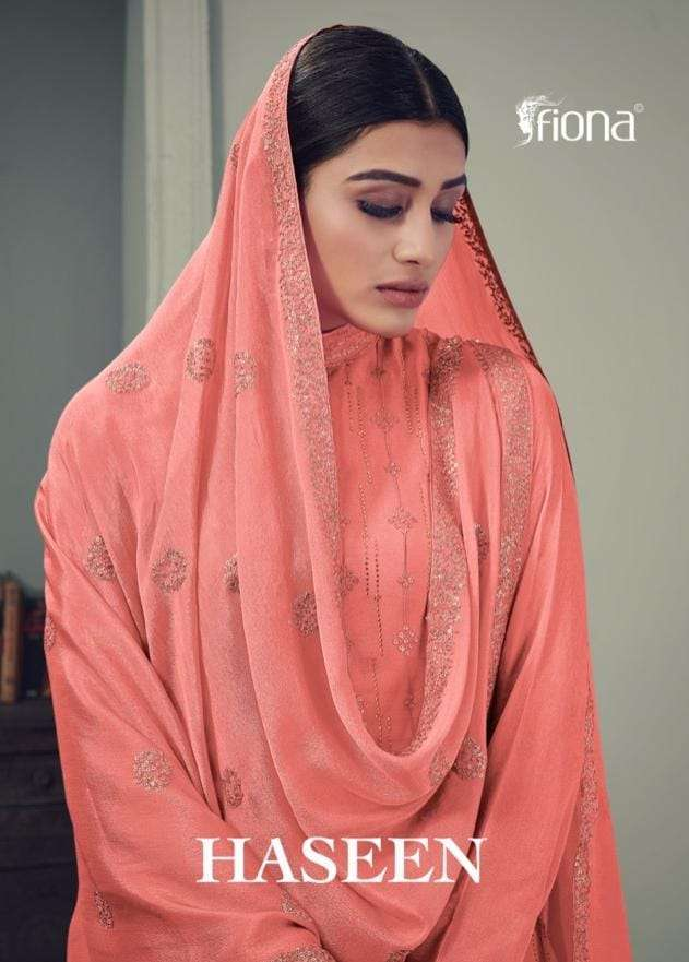 Fiona Haseen Chinon With Sequence Embroidery Work Salwar Kameez Collection