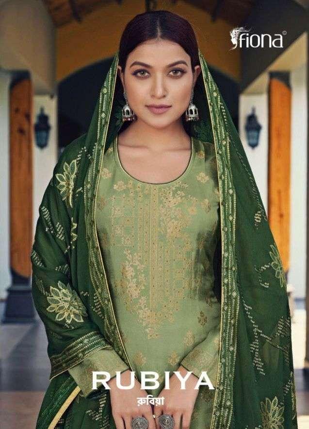 Fiona Rubiya Dola jacquard Salwar Kameez collection