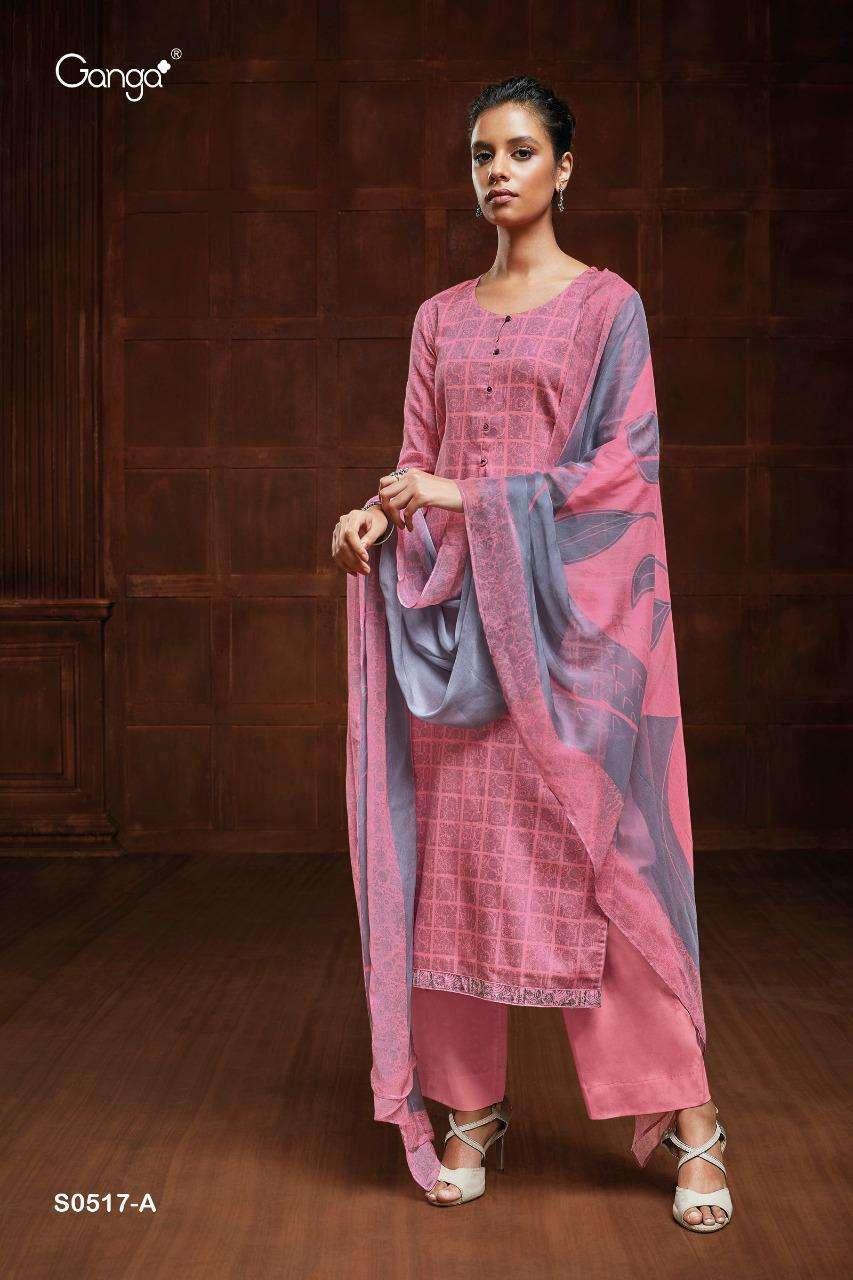 Ganga Yana 517 Series Cotton Satin printed Salwar Kameez Collection