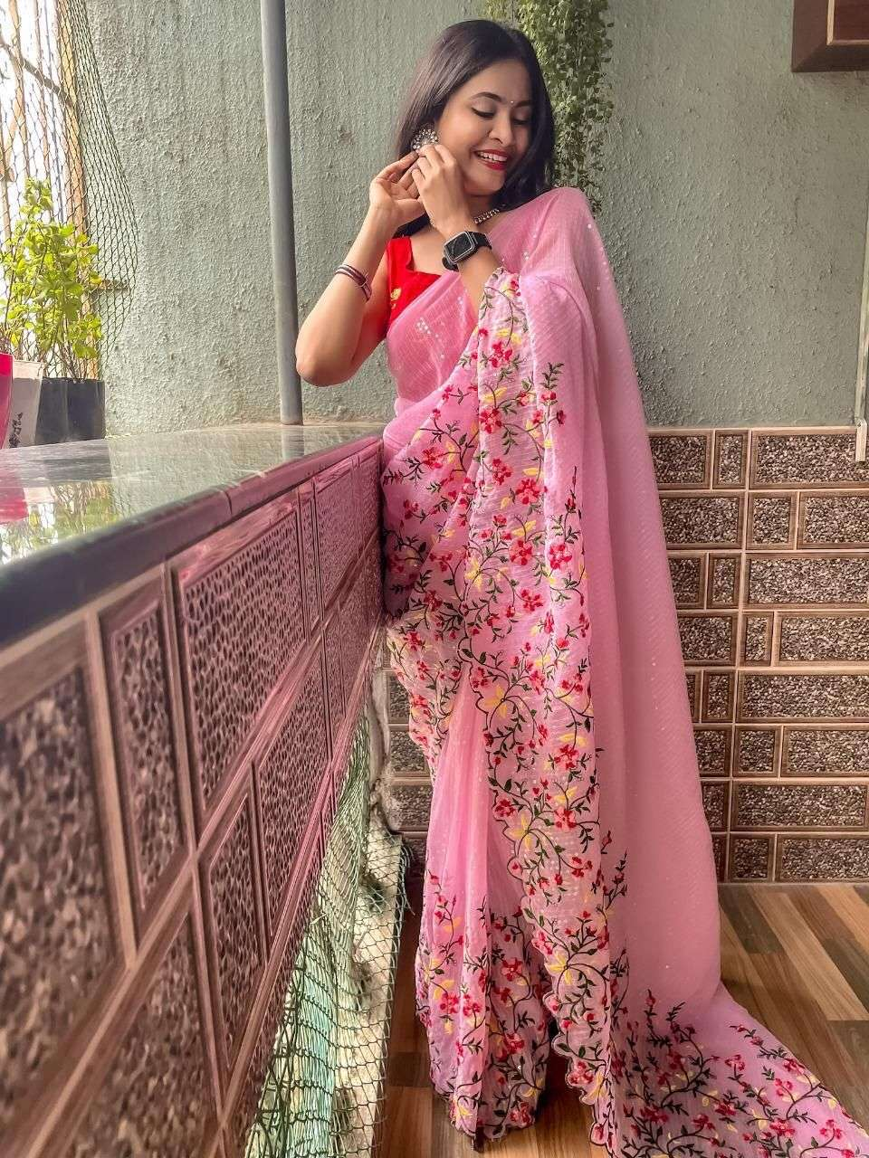 GEORGETTE WITH SEQUNCE WORK  SAREE COLLECTION 02