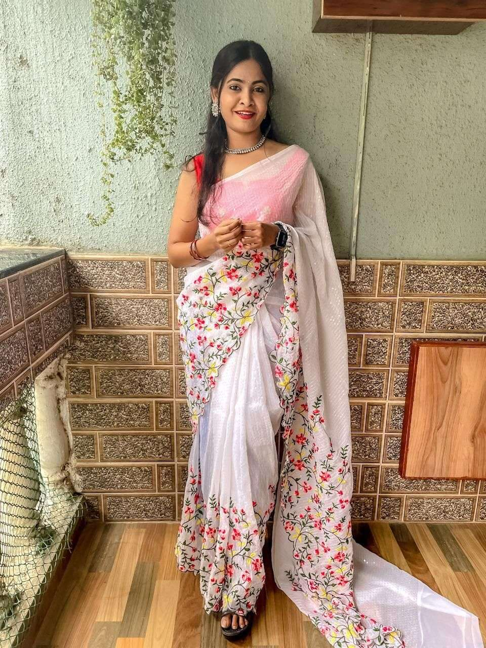 GEORGETTE WITH SEQUNCE WORK  SAREE COLLECTION 03