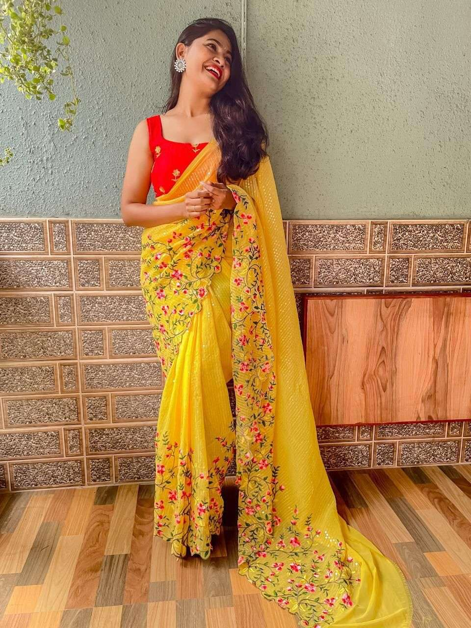 GEORGETTE WITH SEQUNCE WORK  SAREE COLLECTION 04