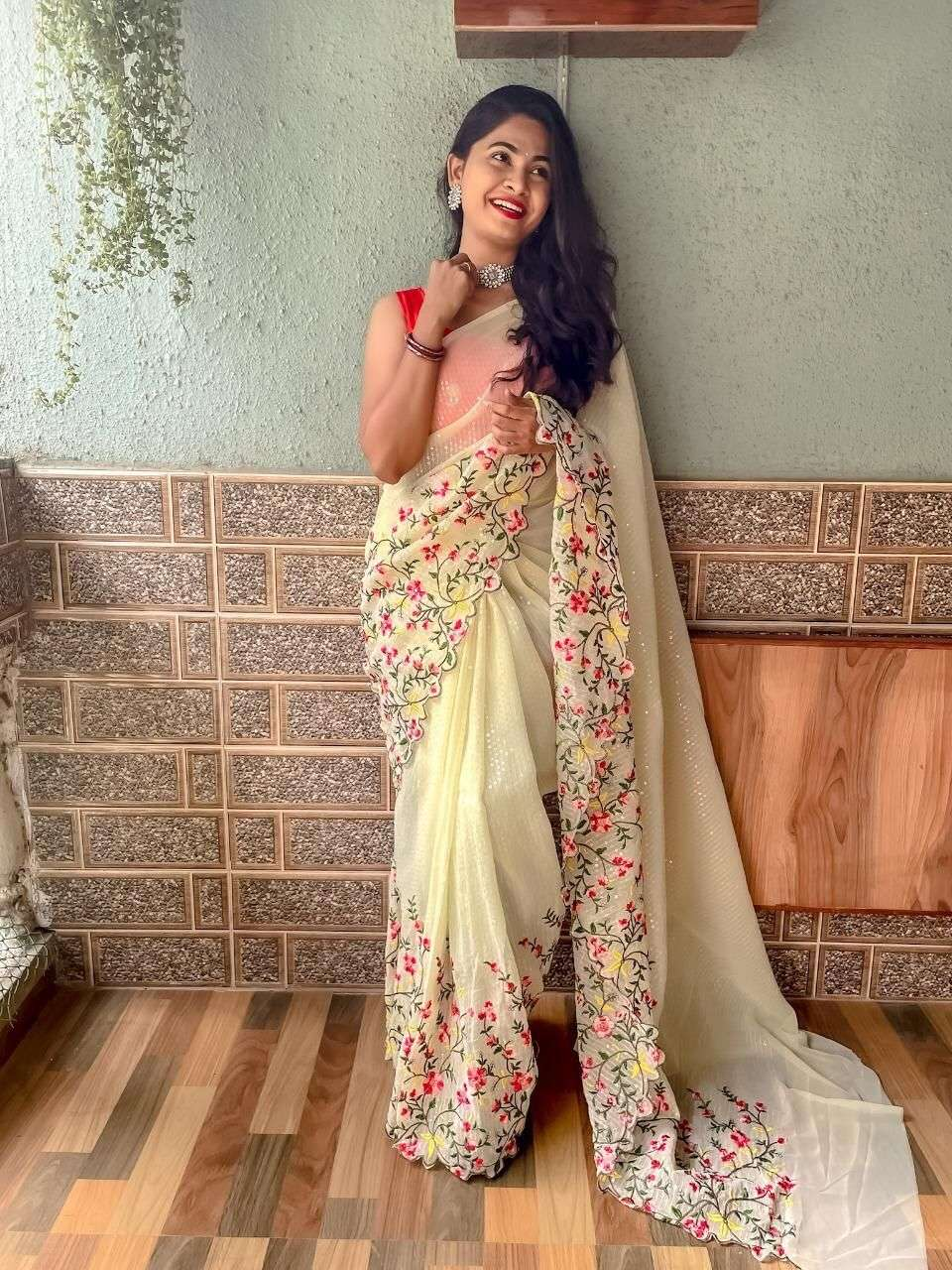 GEORGETTE WITH SEQUNCE WORK  SAREE COLLECTION 05