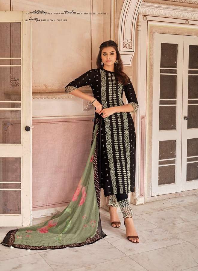 jay Vijay Zarokha Pure Cotton Silk With Hand Embroidery Work Dress Material Collection